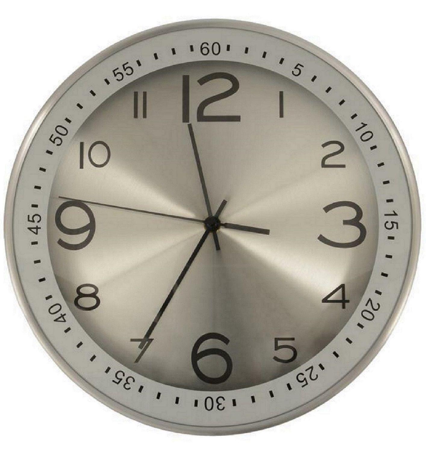 Nástěnné analogové hodiny Modern, 30 cm, stříbrné Methodo