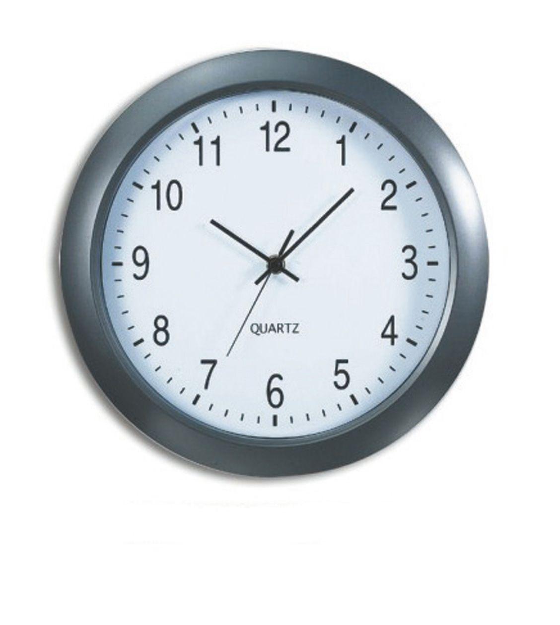 Nástěnné analogové hodiny Prague, 30 cm, šedé