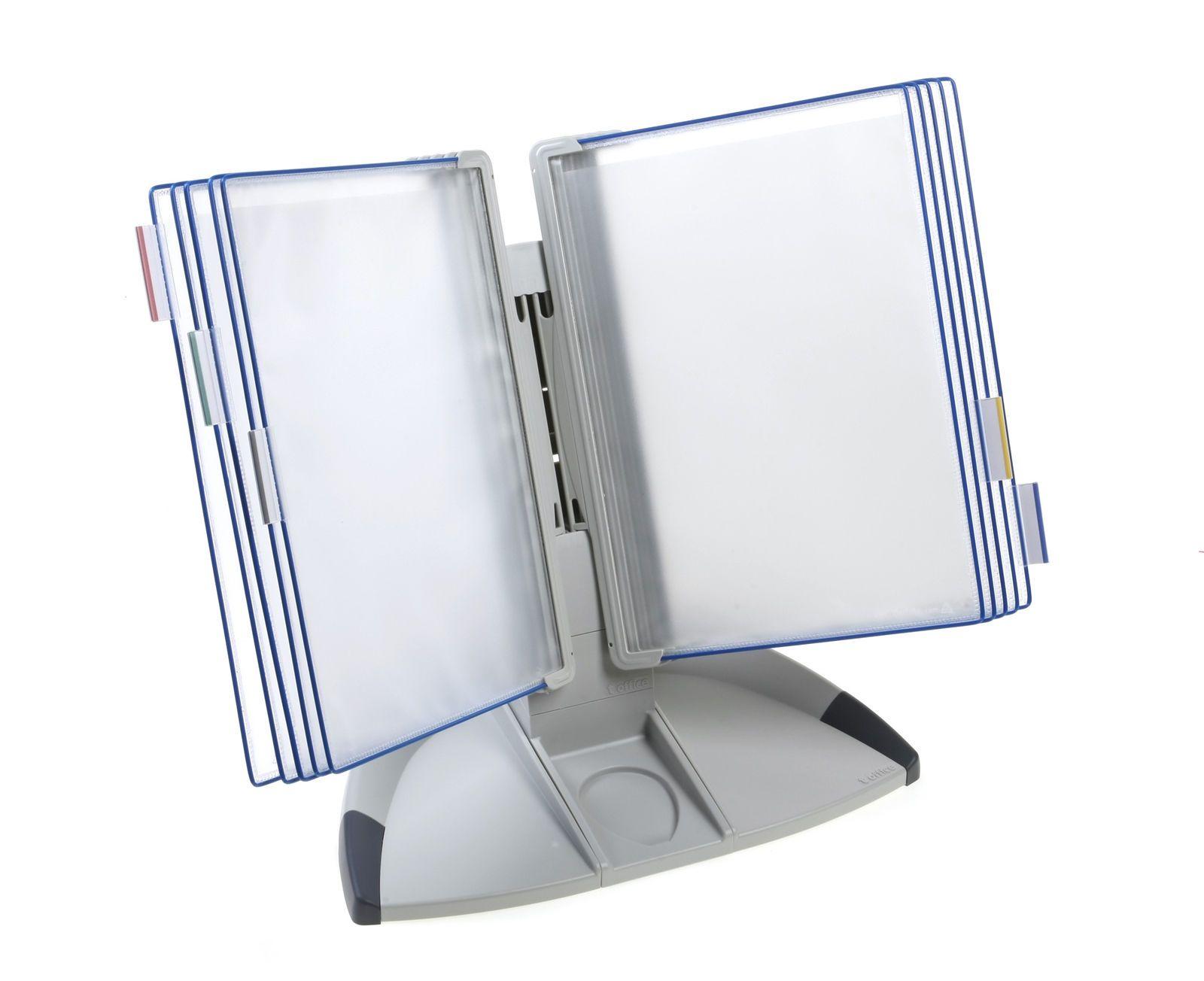 SET Základní stolní stojan na 10 kapes Tarifold - modré kapsy