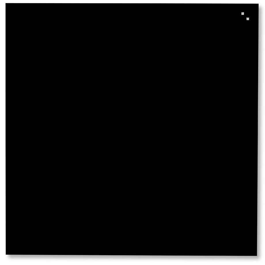 Skleněná magnetická tabule, 100x100 cm, Černá