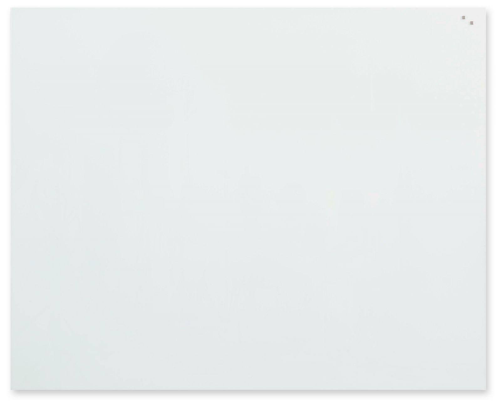 Skleněná magnetická tabule, 120x150 cm, Bílá