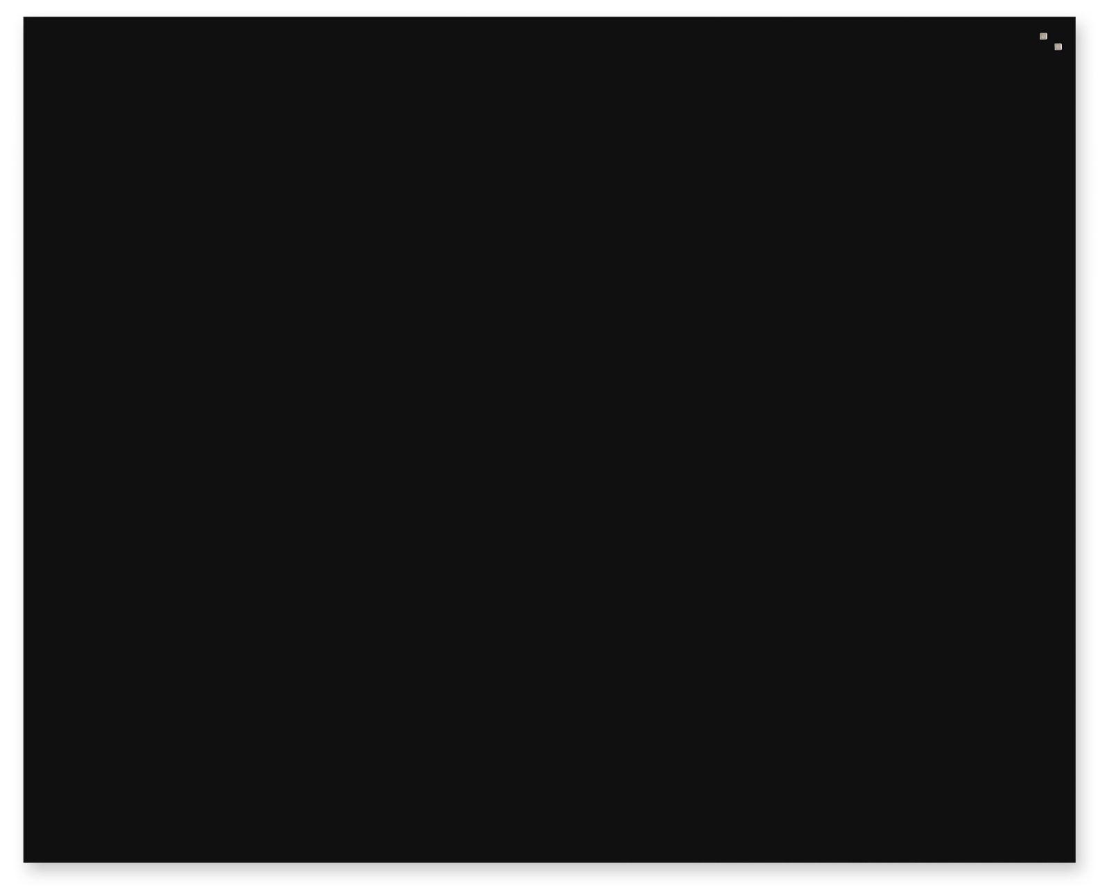 Skleněná magnetická tabule, 120x150 cm, Černá