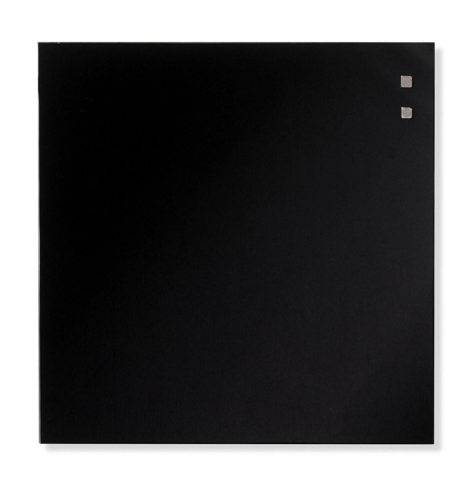 Skleněná magnetická tabule, 35x35 cm, Černá