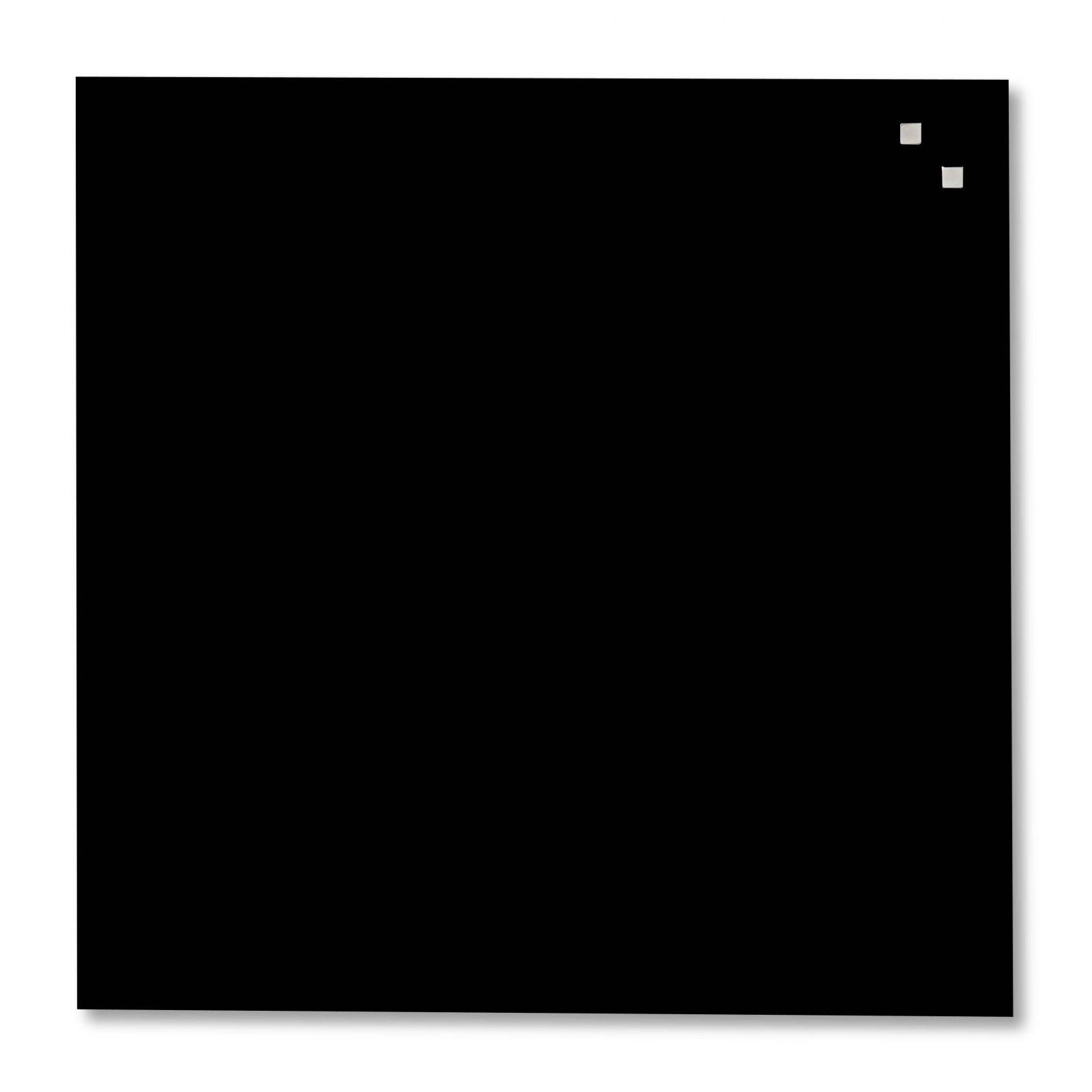 Skleněná magnetická tabule, 45x45 cm, Černá