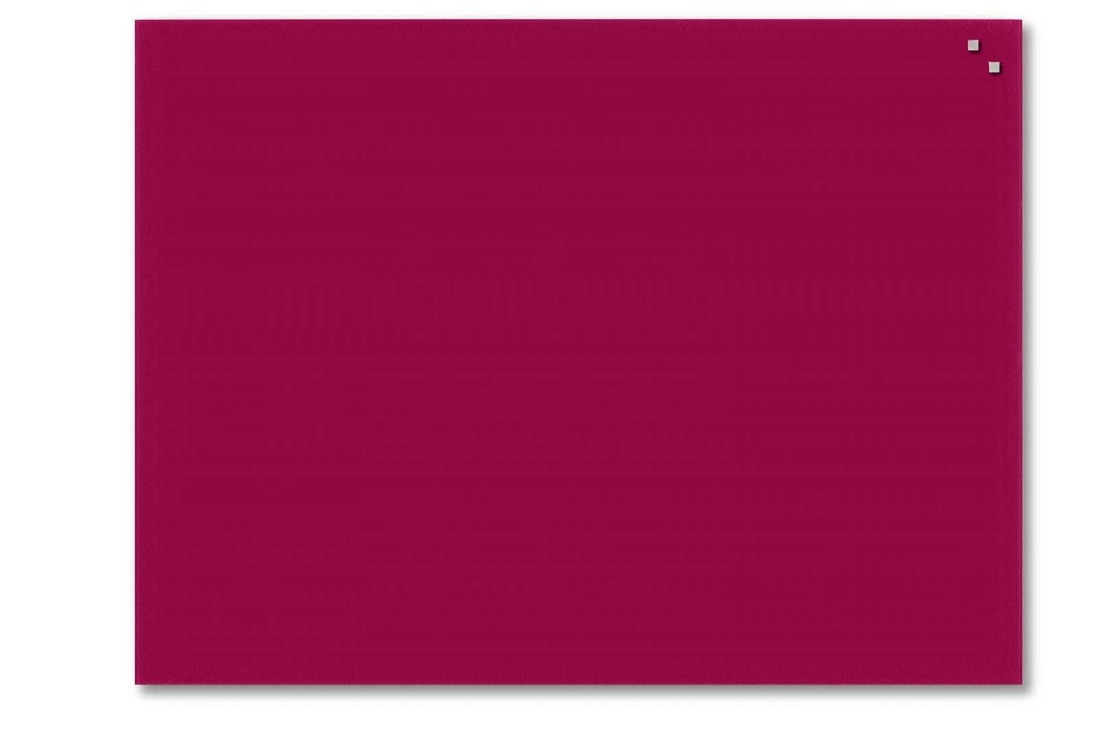 Skleněná magnetická tabule, 60x80 cm, Červená
