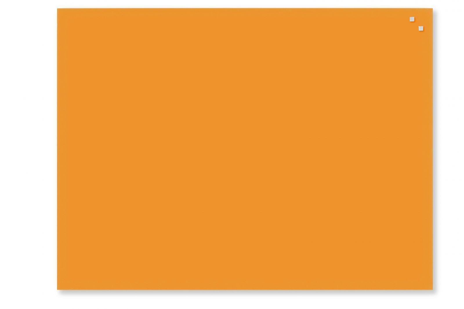 Skleněná magnetická tabule, 60x80 cm, Oranžová