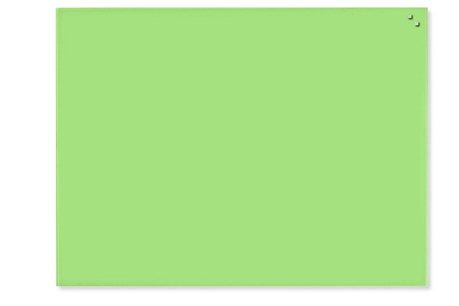 Skleněná magnetická tabule, 60x80 cm, světle Zelená