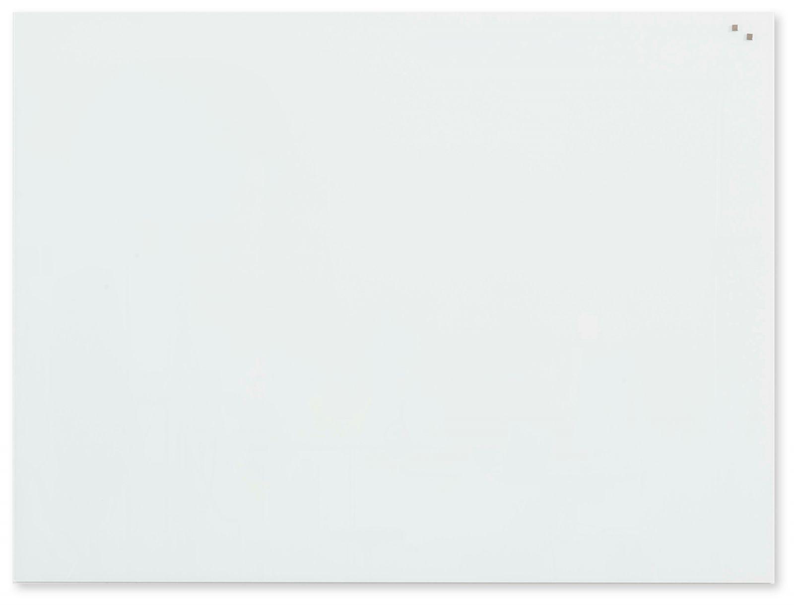 Skleněná magnetická tabule, 90x120 cm, Bílá