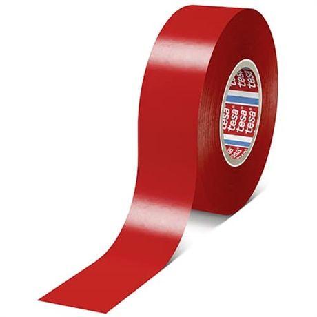Tesaflex - značkovací páska, 33 m x 50 mm, PVC 180 µm, červená