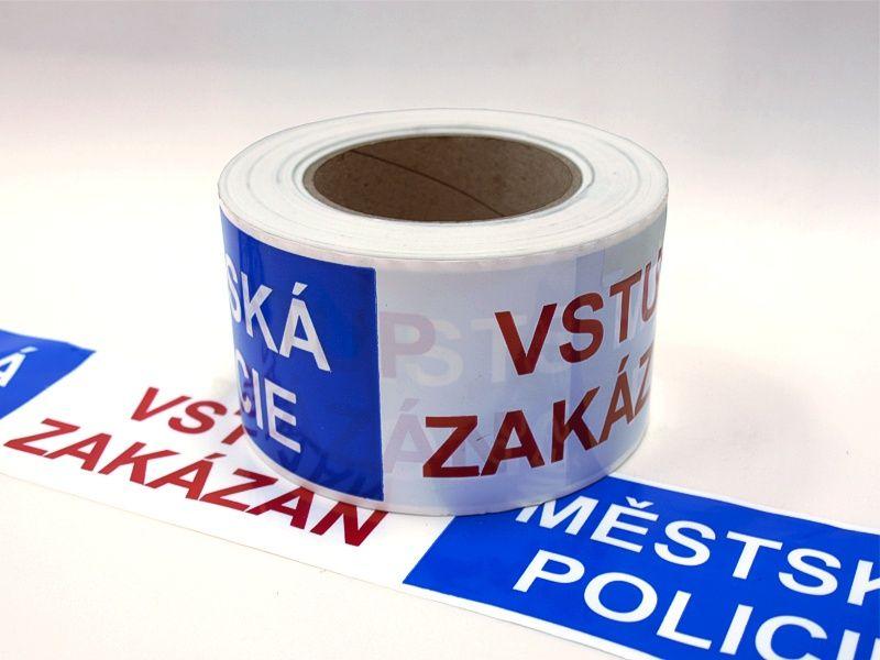 Výstražná ohraničovací páska - MĚSTSKÁ POLICIE 330 m A-Z Reklama CZ