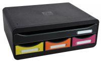 Zásuvkový box nízký, A4+, 4 zásuvky