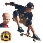 Pánská figurína Sport Skateboard - Tělová