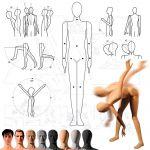 Pánská Pohybovatelná figurína - Tělová s make-up s hlavou pro paruku A-Z Reklama CZ