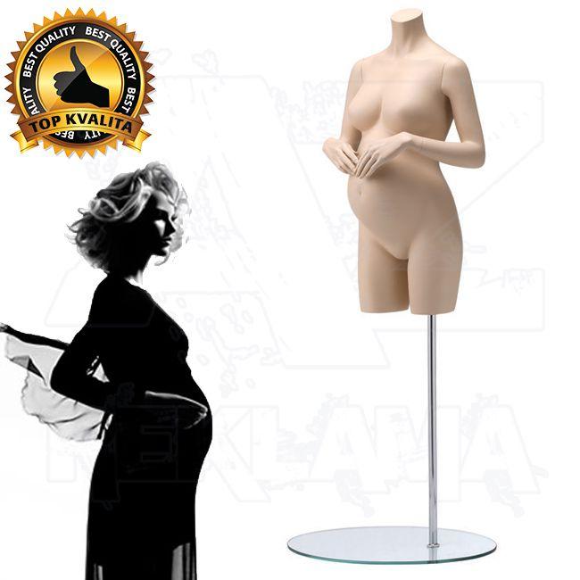 Těhotné torzo střední část bez hlavy - Tělová póza 2