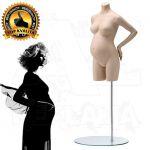 Těhotné torzo bez hlavy - Tělová póza 3