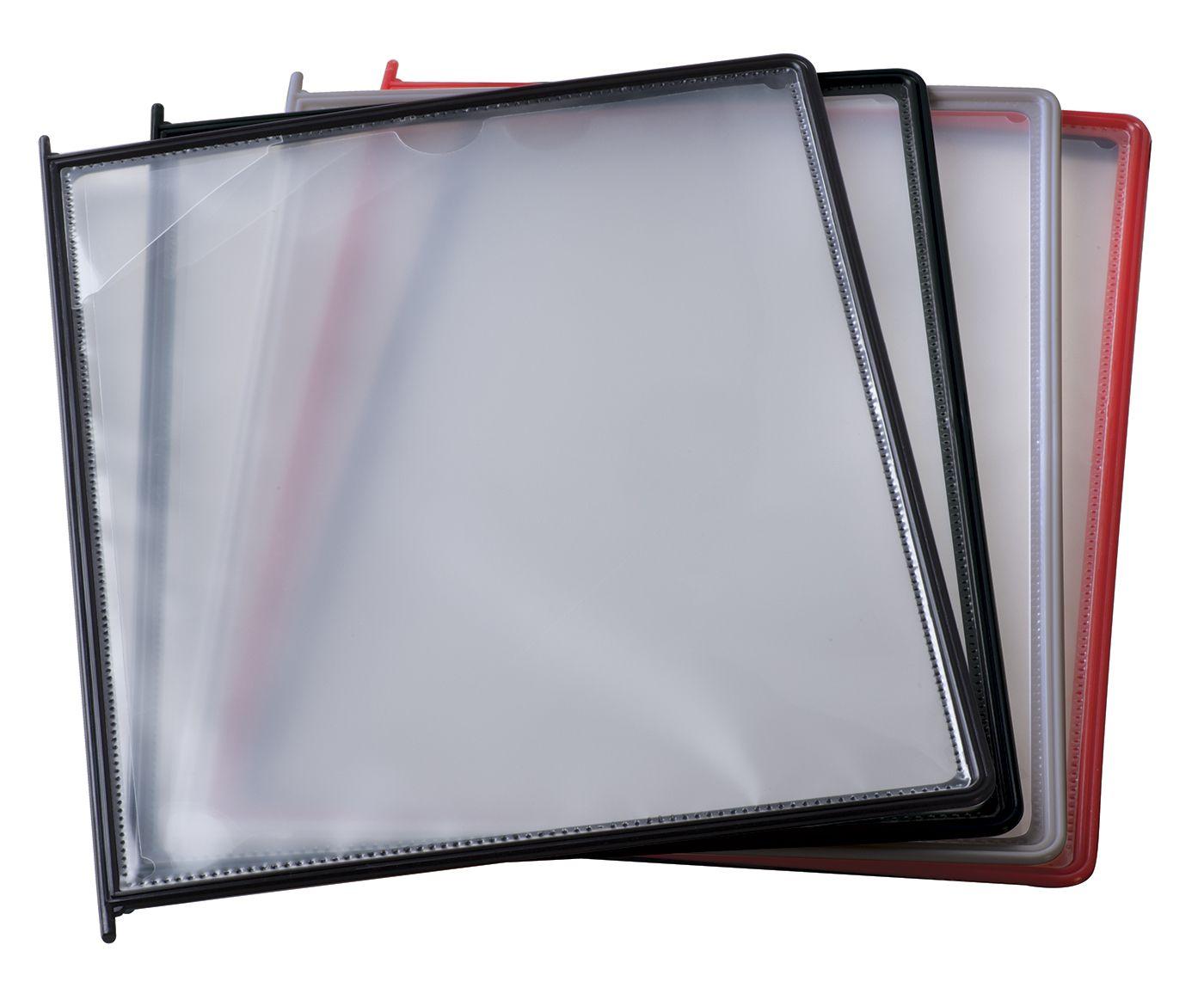 10 Červených kapes A4 určených pro listovací soubory A-Z Reklama CZ