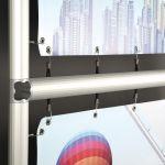 Omni Frame rám s háčky na úchyt banneru 150x150 cm A-Z Reklama CZ