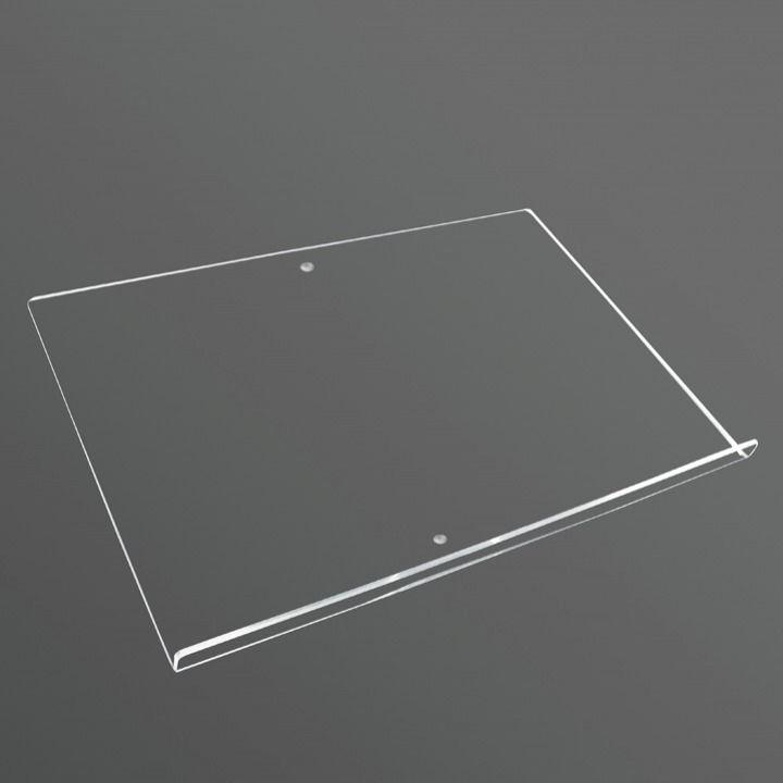 Akrylová čirá polička pro menuboard bez kroužku A-Z Reklama CZ