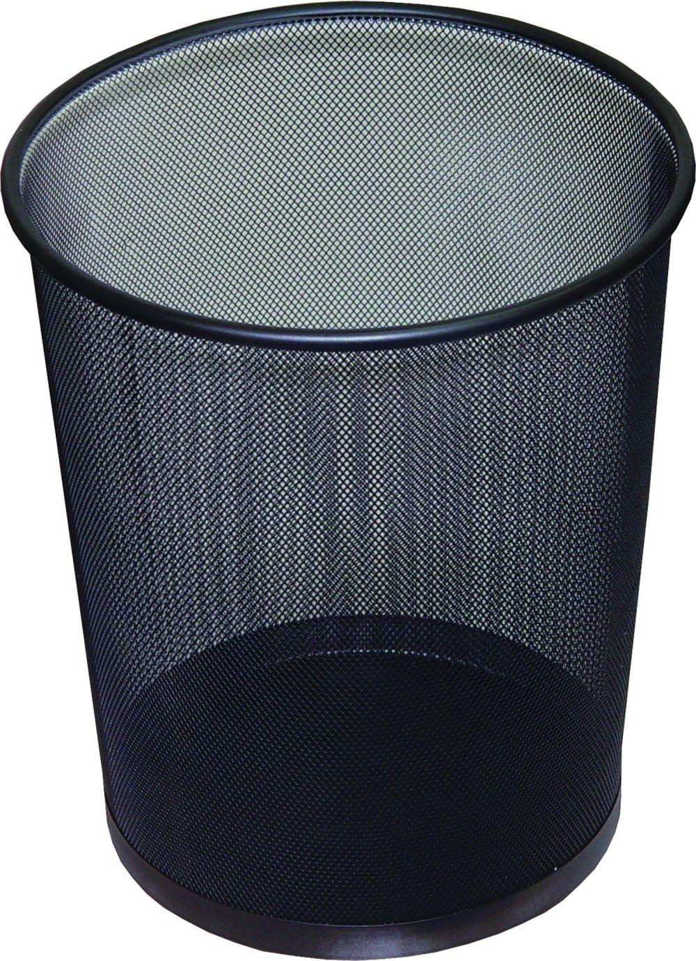 Drátěný odpadkový koš na papíry, 19 litrů, černý DONAU