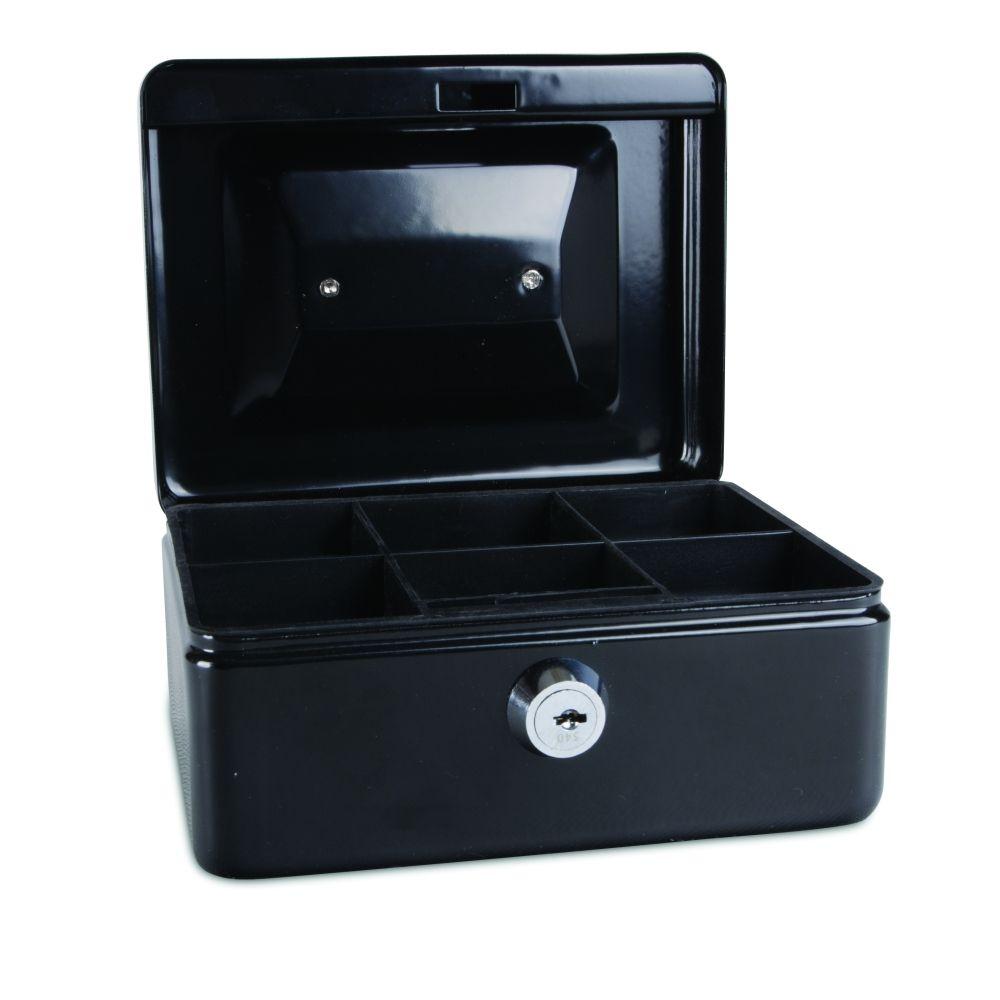 Kovová pokladnička, 152x115x80 mm, černá DONAU