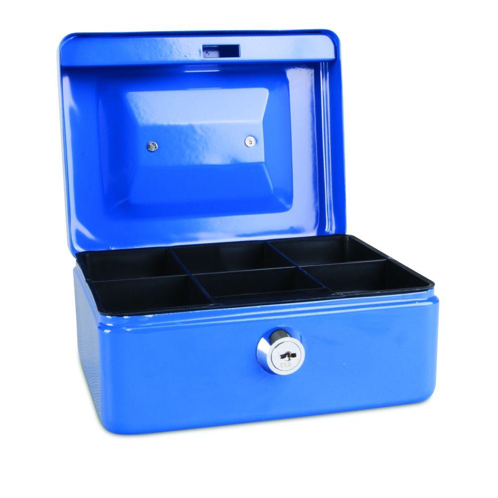 Kovová pokladnička, 152x115x80 mm, modrá DONAU