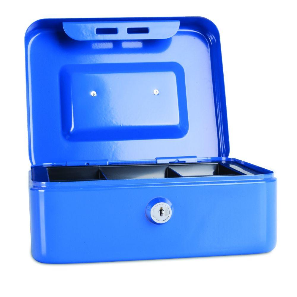 Kovová pokladnička, 200x160x90 mm, modrá DONAU