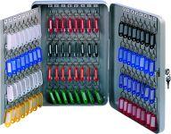 Kovová schránka na 140 klíčů, 80x370x80 mm, šedá DONAU