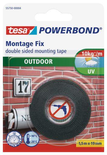 Montážní pěnová páska venkovní, 1,5 m x 19 mm, oboustranná, transparentní tesa