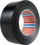 Silně lepicí textilní páska, 50 m, černá - 6 ks