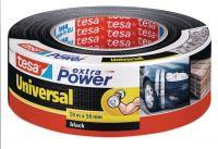 Opravná páska Extra Power Universal, 50 m x 50 mm, textilní, silně lepicí, černá, balení 6 ks tesa
