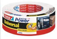 Opravná páska Extra Power Universal, 50 m x 50 mm, textilní, silně lepicí, bílá, balení 6 ks tesa
