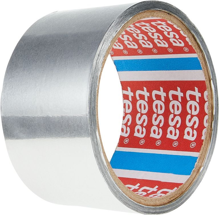 Opravná páska hliníková, 10 m x 50 mm, 50 µm, Stříbrná tesa