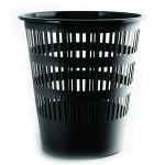 Plastový koš perfor., 12 litrů, černý