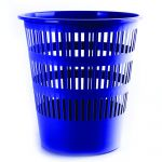 Plastový koš perfor., 16 litrů, modrý