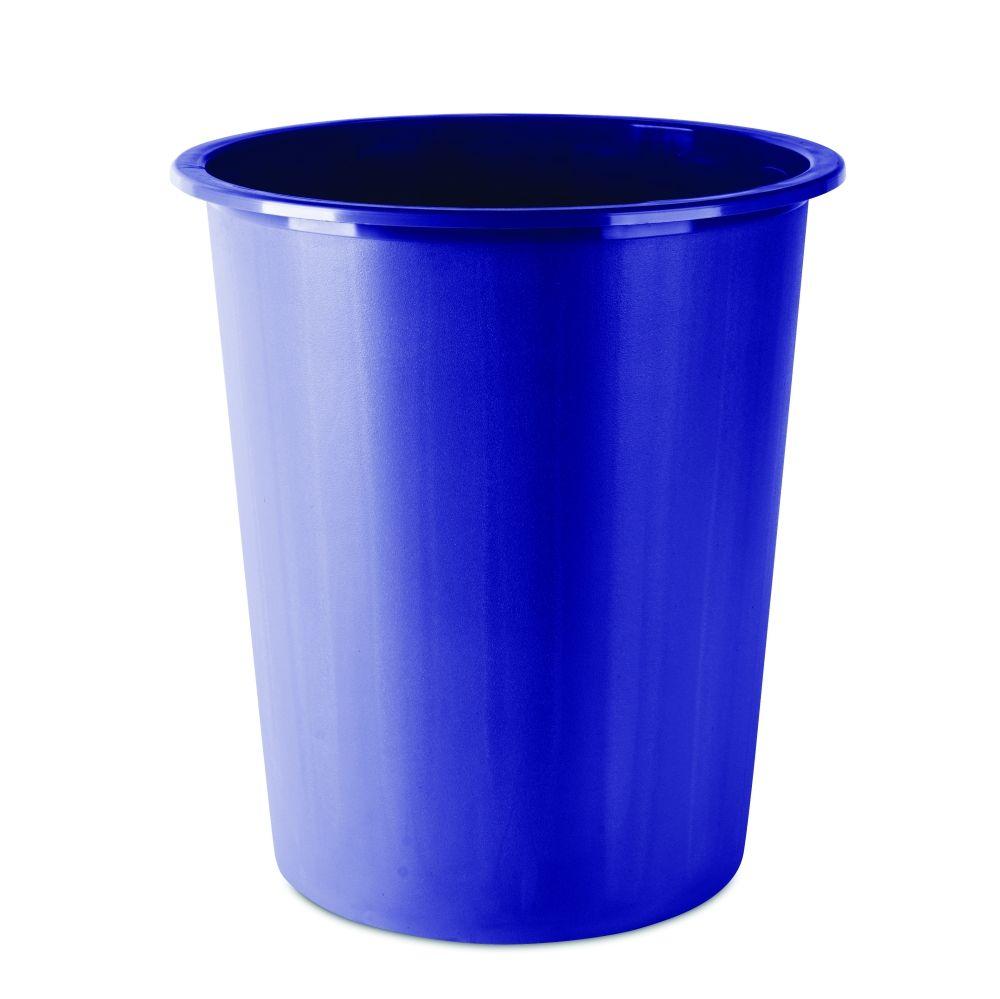 Plastový otevřený odpadkový koš, 14 litrů, modrý DONAU
