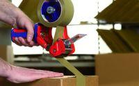 Ruční odvíječ balicí pásky Comfort, průmyslový, pro role do 66m x 50mm tesa