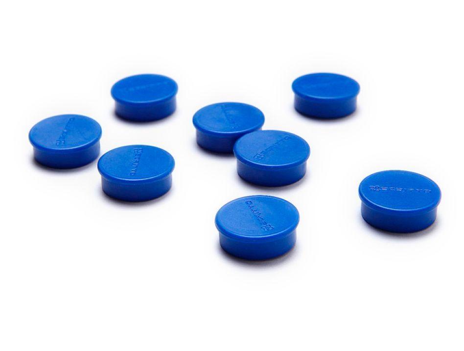 Sada 24ks magnetů na nástěnky a vitríny SCRITTO průměr 20mm Modré barvy A-Z Reklama CZ