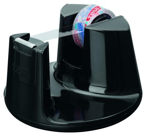 Stolní odvíječ kancelářské pásky Compact, 33 m x 19 mm, vč. Invisible pásky, černý tesa