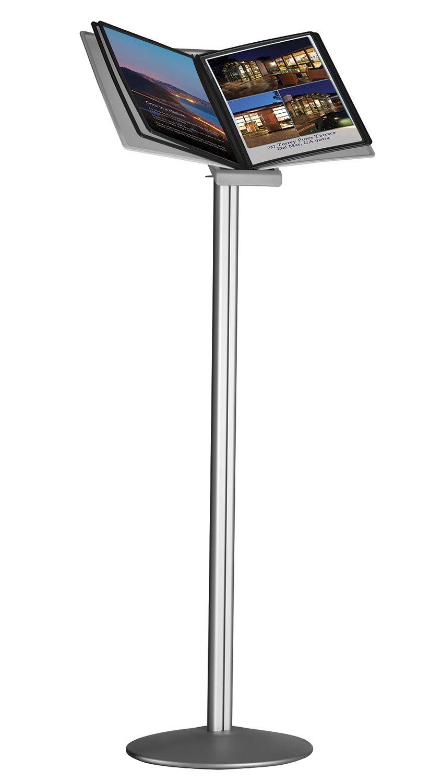 Volně stojící stojan s černým držákem 10 ks A4 kapes A-Z Reklama CZ