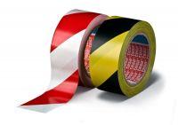 Značkovací páska pro trvalé značení, 33 m x 50 mm, PVC, žluto-černá, balení 6 ks tesa