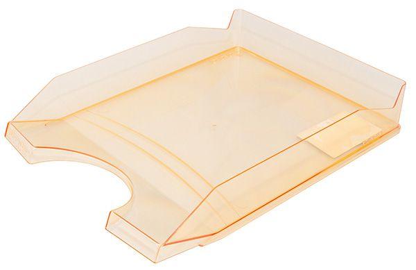 Kancelářský stolní odkladač, A4, transp. oranžový - 10 ks Office Products