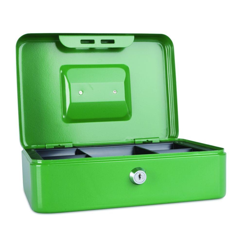 Kovová pokladnička, 250x180x90 mm, zelená DONAU