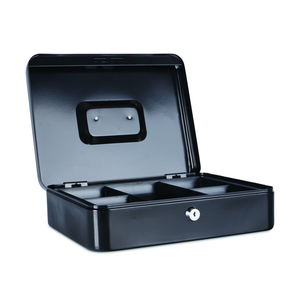 Kovová pokladnička, 300x240x90 mm, černá DONAU
