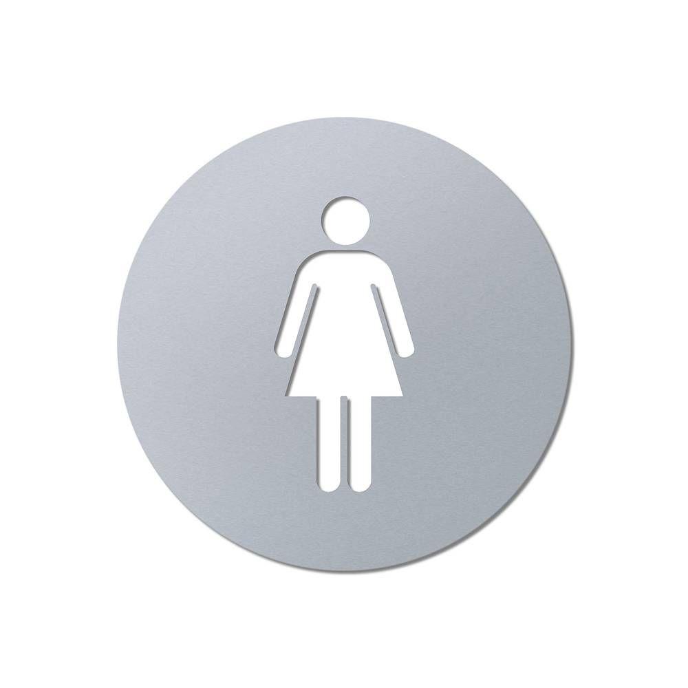 Laserované 3D značení toalet - průměr 80 mm, WC Ženy A-Z Reklama CZ