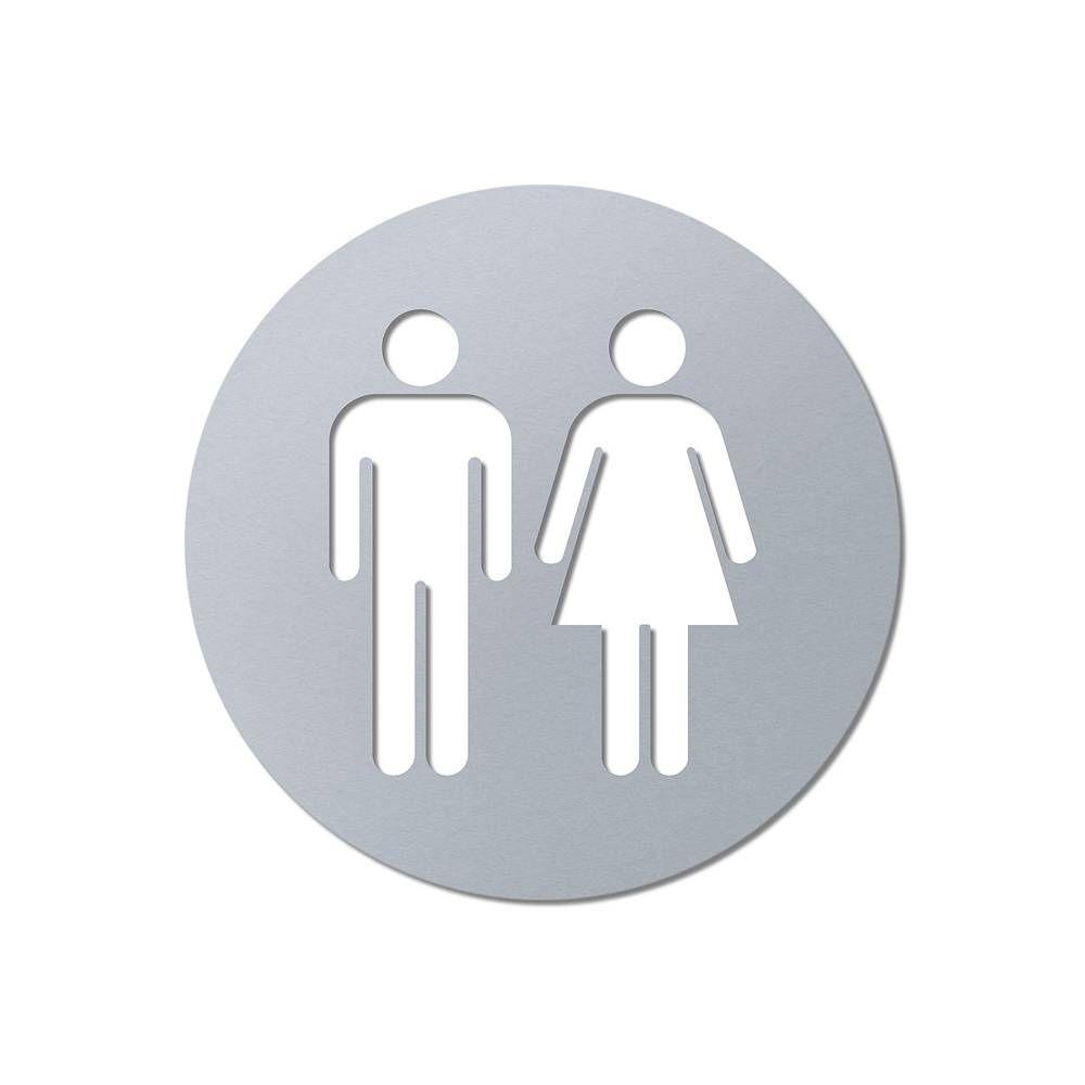 Laserované 3D značení toalet - průměr 80 mm, WC Muži a Ženy A-Z Reklama CZ