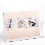 Plastový stojánek na letáky A4 na šířku stojací i na zeď A-Z Reklama CZ