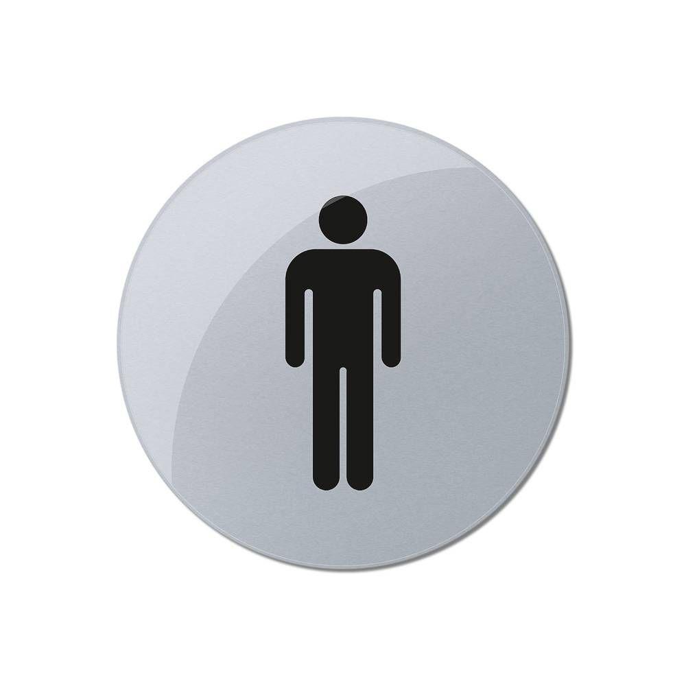 Tištěné značení toalet - průměr 80 mm, WC Muži A-Z Reklama CZ