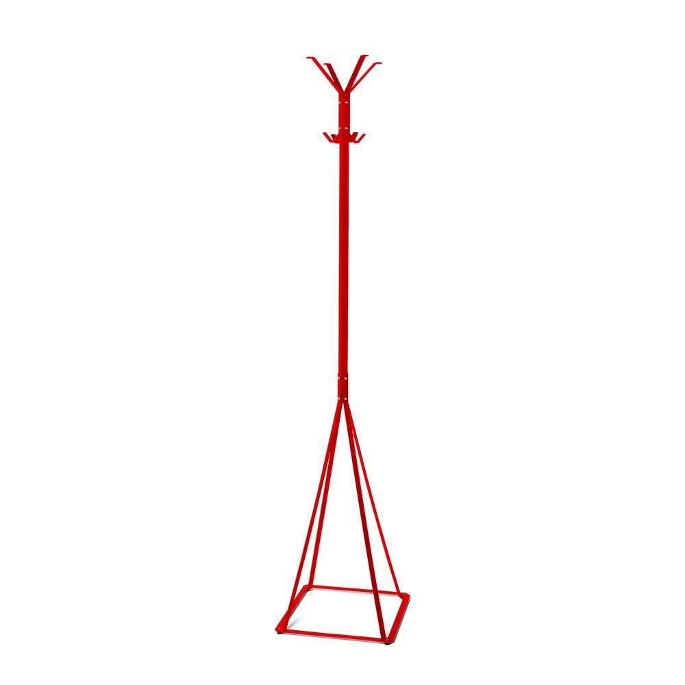 Volně stojící lakovaný kovový věšák Classic, Červený