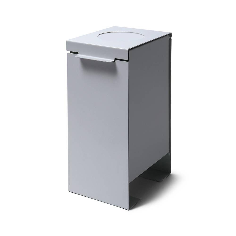 Kovový odpadkový koš na tříděný odpad, Šedý