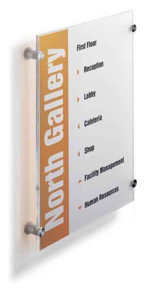 Orientační nástěnná tabulka CRYSTAL SIGN A3 297x420 mm